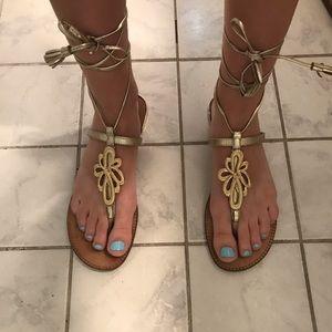 Lilly Pulitzer tie sandals